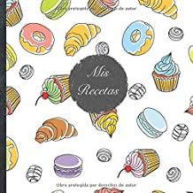 """Mis Recetas: Mi libro de recetas • Libro de cocina personalizado para escribir 100 recetas • 21 x 21 cm • Cuaderno para completar • diseño """"114 ... sus mejores recetas en este libro de cocina!"""