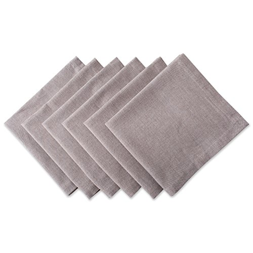 Chambray Cotton Napkins in Stone, Set of 6