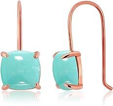 by Trendydeals Dangle Earrings Turquoise Sterling Silver Earrings Sleeping Beauty Turquoise Sterling Silver Earrings