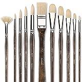 Best Oil Paint Brushes - Professional Oil Paint Brush Set, Fuumuui 11pcs Superior Review