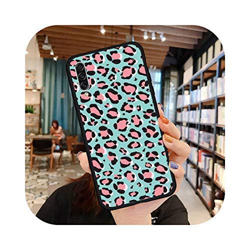 Leopard Print - Carcasa para Samsung Galaxy S 7 8 9 10 20 Edge A 6 10 20 30 50 51 70 Note 10 Plus A8-Samsung A6