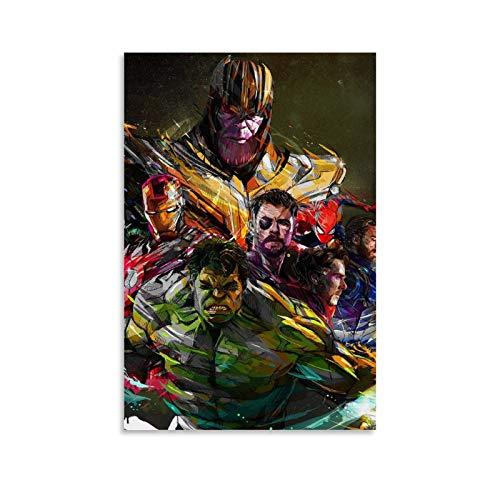 YANGBD Avengers Desktop Backgrounds Poster Pintura Decorativa Lienzo Arte Pared Sala Póster Dormitorio Pinturas 20x30inch (50x75cm)