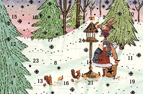 Lustige Adventskalenderkarten 5 Karten Grußkarten Goldprägung Kunstkarte Weihnachtskarte Adventskalender Frohe Weihnachten Weihnachtsmann Winter