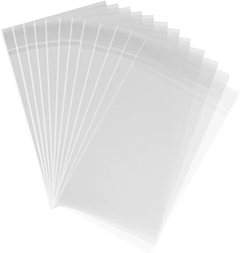 200ct Clear Plastic Bags 4x6-1.4 mils Thick Self Sealing OPP Cello Bags for Bakery Cookies Decorative Wrappers (4'' x...