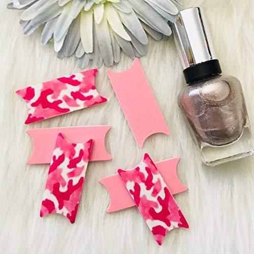 Pink Camouflage 6 Camo File Wise Nail File Original Design Beauty Files Manicure Wedding Shower Favor Bridesmaids Bride file DIY Nail Care Teen Girls Bridal Mini Nailfile Bachelorette Party Travel