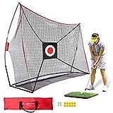 Keenstone 10x7ft Golf Net Bundle Golf Practice Net for Indoor and...