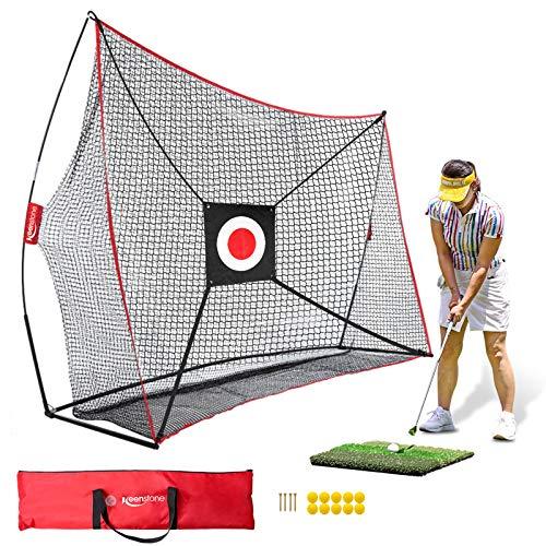 Keenstone 10x7ft Golf Net Bundle Golf Practice Net for Indoor and Outdoor...