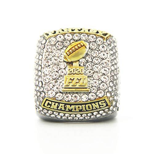 Fei Fei 2020 Fantasy Football Championship Ring Super Bowl Ringe, Replica Ring Fans Sammler Geschenk,with Box,13