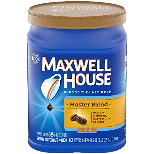 Maxwell House Master Blend Light Roast Ground Coffee (44.5 oz Canister)