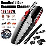 NBCDY Mini-Handstaubsauger, 120 W, 5000 Pa, tragbar, mit doppeltem Verwendungszweck, nass und trocken, mit Hochleistungs- und Hepafilter, ABS-Schale, für Reinigungswerkzeuge für das Auto, schwarz