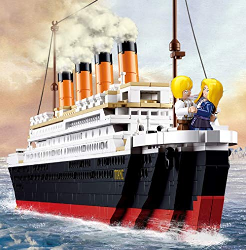 194pcs Titanic Model Building Block Set, 3D Model Educational Gift Toys for Children , Fits Lego and Other Major Brands