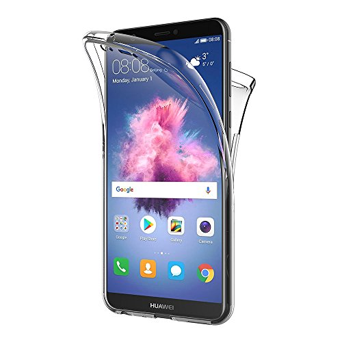AICEK Coque Huawei P Smart, 360°Full Body Transparente Silicone Coque pour Huawei P Smart Housse Silicone Etui Case - (5,65 Pouces) 15 X 8 cm