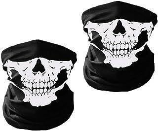 スカル マスク サバゲー マスク ハロウィンフェイスマスク 自転車 マスク コスプレマスク 2枚セット