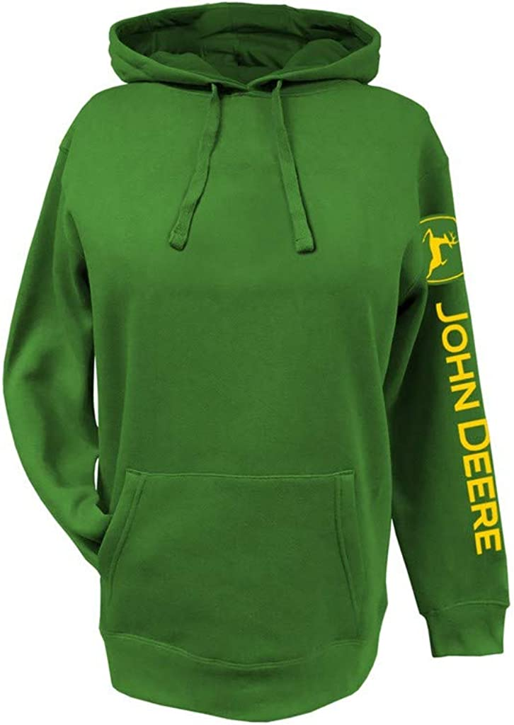 John Deere Western Sweatshirt Womens Logo Draw Cord Hoodie 23025624