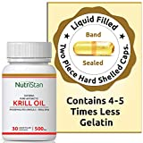 NutrastanXP Krill Oil (Superba) Phospholipid Omega 3 with Astaxanthin 500 mg - 30 Capsules by NutrastanXP