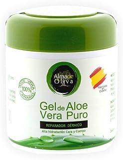 Gel Aloe vera 100% de Canarias crema hidratante natural 500 ml para la piel irritada por el depilado y afeitadoQuemaduras...