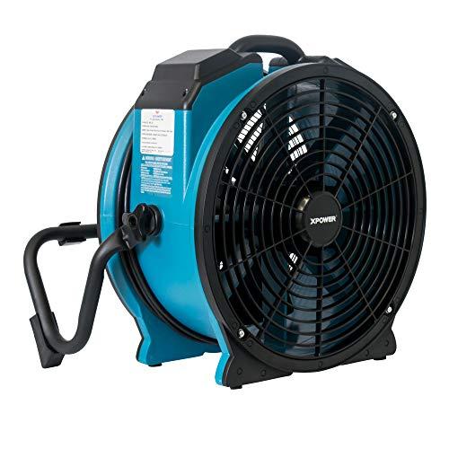 XPOWER FC-420 Pro Air 18 Inch 3600 CFM 360 Degree Rotation Utility Fan, Blue
