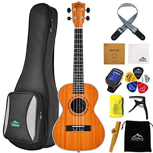 EASTROCK Tenor Ukulele 26 inch Professional Ukelele Instrument Kit for Adults with Gig Bag,EQ Tuner,Strap,Carbon String,Cleaning Cloth,Ukulele Picks Set(Tenor Ukulele,Ukulele)
