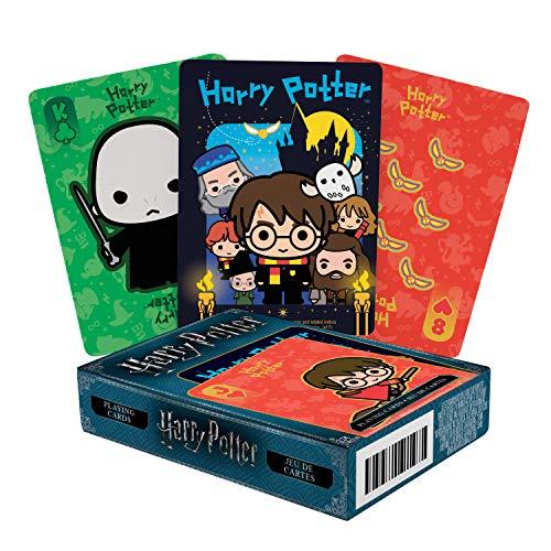 Aquarius 52525 Harry Potter Chibi Playing Cards Spielkarten, Mehrfarbig, Einheitsgröße