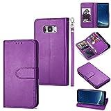 CellphoneParts BZN Étui à rabat en cuir ultra-fin pour Samsung Galaxy S8 + 9 cartes avec...
