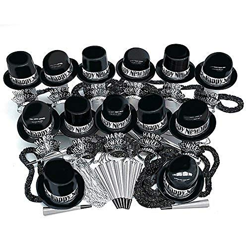 Check Out This New Year's Silver Showboat Party Assortment for100 Pkg/3