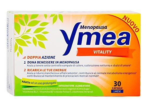 Ymea Vitality Integratore Alimentare, Compresse Multivitaminiche per Maggiore Energia Fisica e Mentale Durante la Menopausa, 30 Capsule