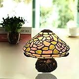 Lámpara decorativa Lámpara de mesa creativa de la seta Diseño decoración de la boda de la lámpara escritorio de la tabla de Protección Ambiental de Calidad de alta Base Resina Lámpara de mesa