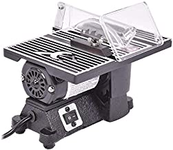 Goplus Electric Table Saw 8500 RPM Mini Portable Benchtop Tablesaw Adjustable Miter Saw..
