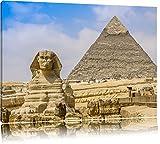 Große Sphinx von Gizeh mit Pyramide Format: 100x70 auf