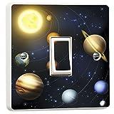 WALL ART <span class='highlight'>DESIRE</span> Planets Solar System Light Switch Sticker Vinyl Skin