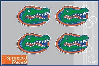 Florida Gators GATOR HEAD Vinyl Decals 4 Pack Car Truck iPhone UF Stickers