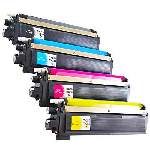 4 Bubprint Toner kompatibel für Brother TN-230 TN-230BK TN-230C TN-230M TN-230Y für DCP-9010CN HL-3040CN HL-3070CW MFC-9120CN MFC-9320CW Schwarz Cyan Magenta Gelb