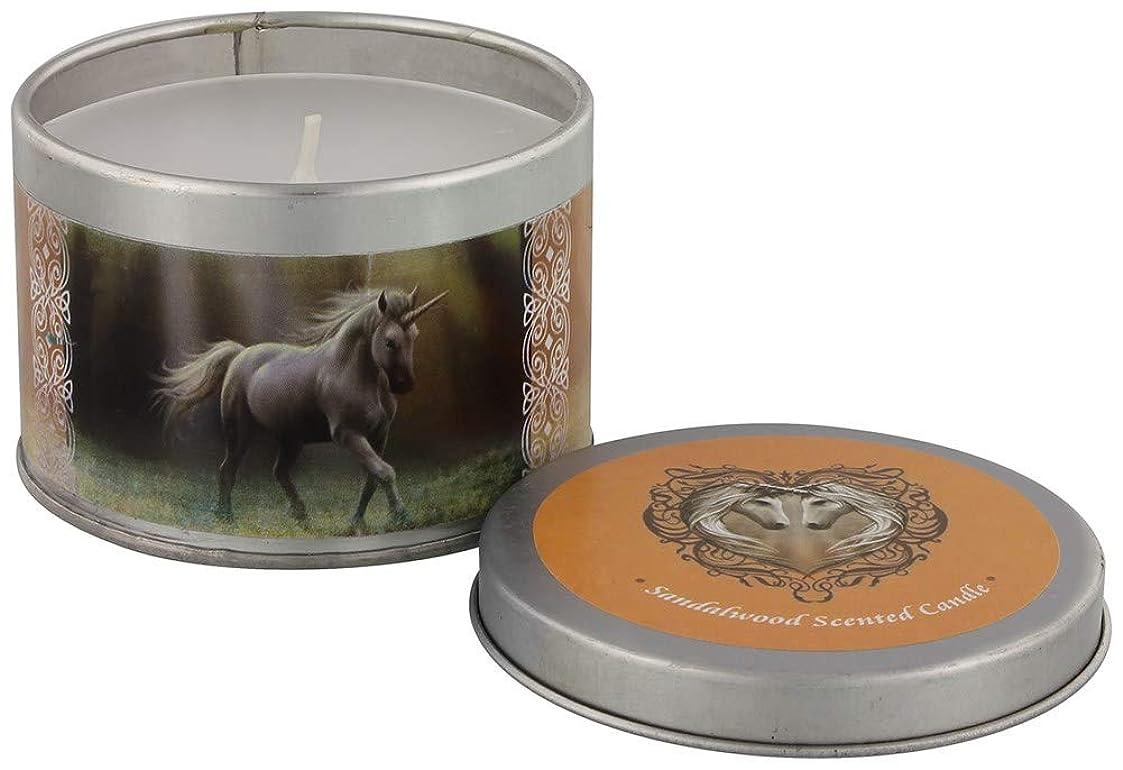 恐怖症ひどく調子Glimpse Of A Unicorn Candle By Anne Stokes