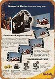 Snowae 1949 Kodak 8 mm Filmkameras Metall Poster Wand rostfrei Aluminium wetterfest Dekor Home Wall Art Decor Retro Vintage Blechschild 30,5 x 20,3 cm