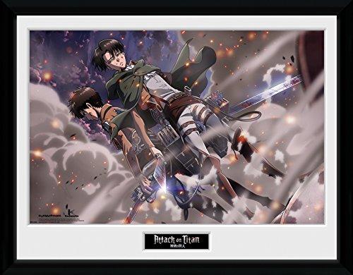 GB Eye LTD, Attack on Titan, Smoke Blast, Photographie encadrée 30 x 40 cm