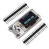 Dealikee ESP32 OLED WiFi Kit placa de desarrollo nueva versión 8MB Flash, ESP32 WiFi + Bluetooth 0.96 pulgadas OLED pantalla CP2102 Internet para Arduino ESP8266 NodeMCU