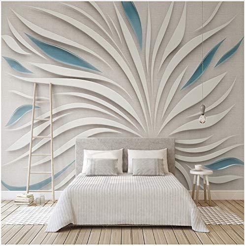 WH-PORP 3D Behang Custom Any Size 3D muurschildering Behang 3D abstracte bloemblaadjes glasweefsel mozaïek muur woonkamer sofa tv achtergrond 8D muurpapier 350 cm x 245 cm.