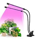 Lampada per Piante, PDGROW 40 LED 40W Lampade da Coltivazione Spettro completo Lampada Piante per Piante da interni Frutta Verdure con Timer Automatico 3/9/12H, 9 Livelli Dimmerabili