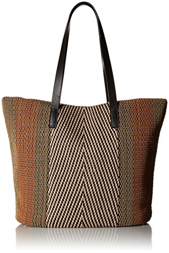 Lucky Teki Tote Bag, Natural/blac