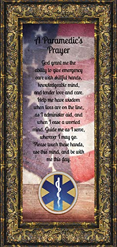 Crossroads Home Décor Prayer for The Paramedic Framed Poem, First Responders Gift, EMS, EMT, Gift for a Paramedic and Emergency Services Personnel, 6x12 7445R