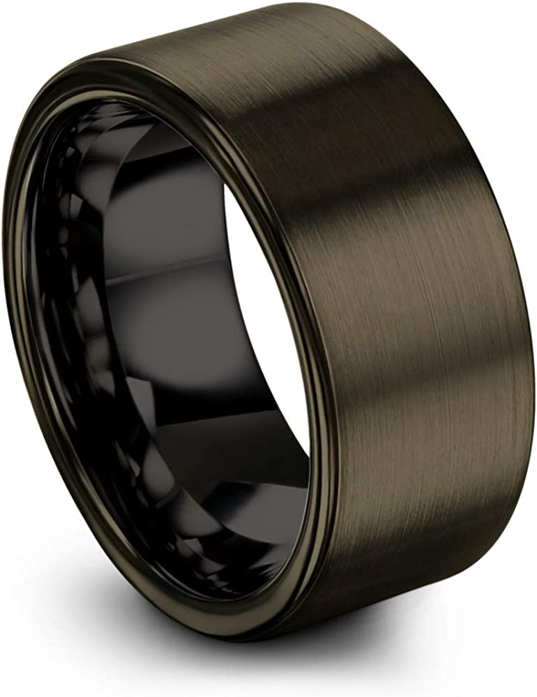 Chroma Color Collection 2020モデル Tungsten 流行 Carbide Ring Band 10mm Wedding