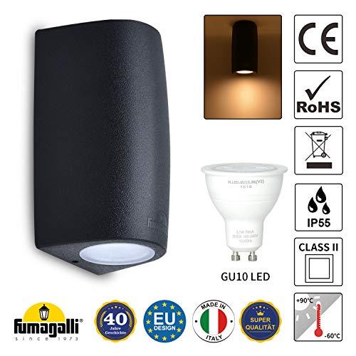 LED Wandleuchte innen und aussen Wandlampe austauschbar Aussenleuchte Wandlampen inkl. 3,5W GU10 Leuchtmittel Warmweiß 230V