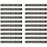 Andifany 20 Juegos de Etiquetas de Precio Ajustables Cuadradas de ExhibicióN de Precios para Soporte de Mostrador ExhibicióN de Precios Kit de Bloque de Precio de DóLar de Letra NuméRica M