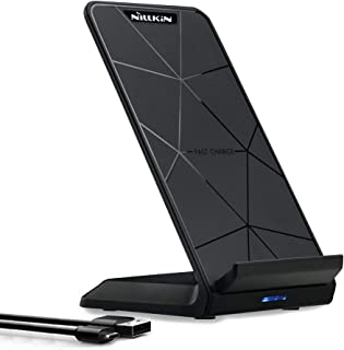Nillkin Fast Wireless Charger Stand, Qi-Certified Charging Station for iPhone 11/11 Pro Max/Xs/XR/XS Max/X/ 8/8 Plus, Pixel 3/3XL, Samsung S10/S10 Plus/S9/S8/S8+/Note 10/S7 Edge and More (No Adapter)