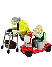 Carrera de abuelo y abuela, juguete de cuerda, de plástico, set de 2.