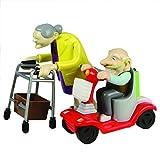Rennen Oma und Opa, Aufziehspielzeug, Kunststoff, 2er Set