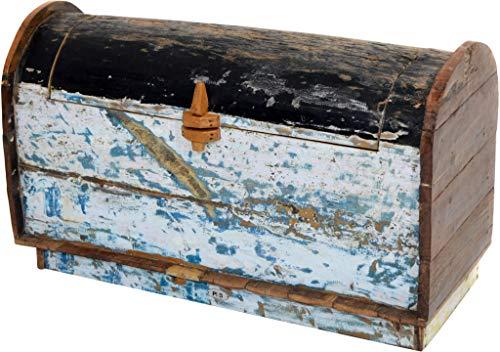 Ploß 1000915 Auflagen-Box Truhe Teak recycelter Fischerboote 115 x 50 x 65 cm