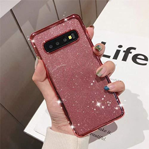 LIUYAWEI Estuche de Lujo con Purpurina y Diamantes de imitación para Samsung Galaxy S7 Edge S8 S9 S10 S20 Plus Ultra Note 8 9 10 Pro Lite Funda Suave para teléfono móvil, Oro Rosa, S9 Plus