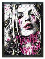 アートショップ フォームス ブランドオマージュアート/スターデザイン「ケイト・モス×ルイ・ヴィトン/Kate Cry」A2ポスター