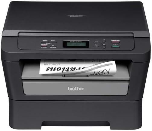Brother Printer DCP7060D Monochrome Laser Multi-Function Copier with Duplex,Dark grey